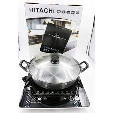 HÀNG CHÍNH HÃNG] Bếp từ đơn cao cấp HITACHI DH-15T7 tặng kèm nồi, bộ đôi  hoàn hảo