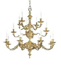 16 light chandelier colonial in polished brass organic amber scroll 38 wide bronze