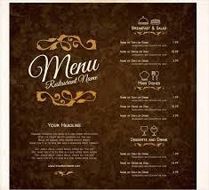 Microsoft Word Restaurant Menu Template Gorgeous Restaurant Menu Template 48 Free PSD AI Vector EPS Illustrator