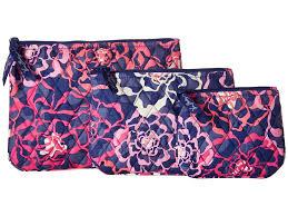 vera bradley cosmetic trio katalina pink cosmetic case gallery nwt vera bradley sierra stream large blush n brush