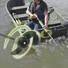 drill paddle replaces trolling motor for emergency backup