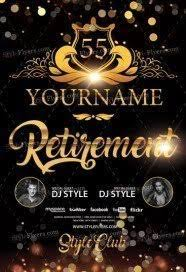 Free Party Flyer Templates Retirement Free Psd Flyer Template Free Download 20819