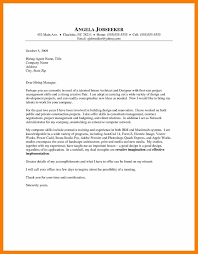 4 Intern Cover Letter Example Science Resume Architect Cover