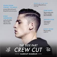 Tough Tumble The Sidepart Crew Cut Haircut Diagram