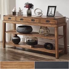 inspire q lonny 3 drawer wood console table tv stand by classic com