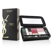 yves saint lau extremely ysl tuxedo makeup essentials palette 5x powder eye shadow 1x loading zoom