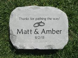 large garden stone personalized garden stone