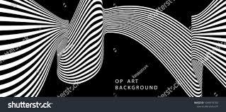 Optical Designs Torsion Illusion Pattern Optical Geometric Design Black
