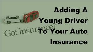 2017 driver insurance policy adding a young to your auto