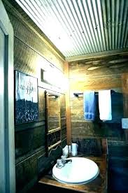 corrugated tin walls gated tin walls interior sheet metal bathroom rustic with galvanized gated metal for