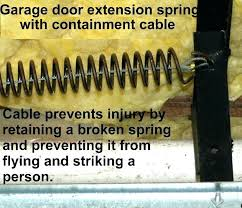 garage door spring cable repair cost garage door extension spring with containment cable c regarding safety