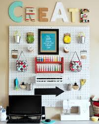 craft o maniac craft room pegboard wall organizer