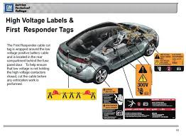 hybrids electric vehicles vehicle engineering automotive volt high voltage labels 3 first responder