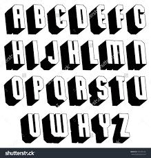 styles 3d lettering design font vector colorful letters geometric dimensional alphabet best