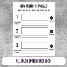 Goal Setting Template Delectable Printable Goal Setting Worksheet Goals Goal Tracker Plan Etsy