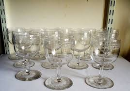 a rare set of twelve georgian engraved port wine glasses 580410 ingantiques co uk