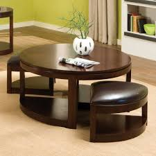 affordable round coffee tables colored in brown made of wooden material with brown chair round coffee