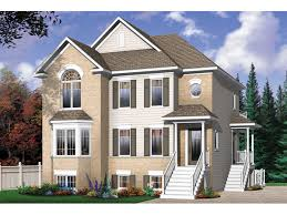 Geary Place Triplex Townhouse Plan D    House Plans and More