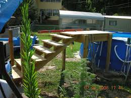 image of picture of above ground pool stairs for decks