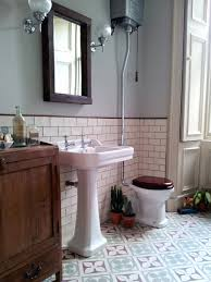 Bathroom With Tiles Edwardian Encaustic Tile Floor With Subway Tile Google Search