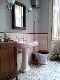 1930s Bathroom Design Edwardian Encaustic Tile Floor With Subway Tile Google Search