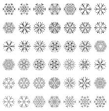 Different Snowflake Patterns Design Elements Vector 01 Free Download
