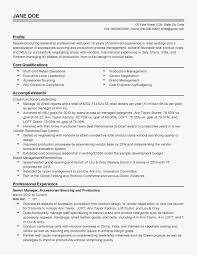 Production Manager Resume Template 01 Suitable Besides