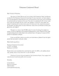 Proposal Letter Sample Charity Donation Sample Of A Sponsorship Letter