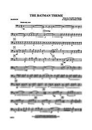 bassoon sheet music batman theme bassoon danny elfman digital sheet music gustaf
