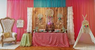 Dream Catcher Baby Shower Decorations Boho party backdrop from a Boho Chic Birthday Party on Kara's 72