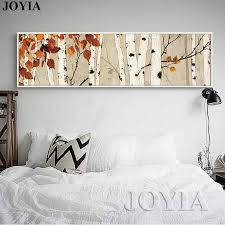birch tree large canvas wall art bedroom decor abstract painting calligraphy for living room horizontal on large horizontal canvas wall art with birch tree large canvas wall art bedroom decor abstract painting
