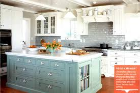 painted kitchen islandsColored Kitchen Cabinets