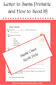 Free printable letter & envelope to and from santa claus templates ⭐ download and print for free! Letter To Santa Printable And How To Send It That One Mom