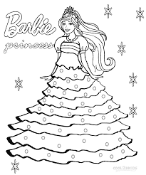 Small Picture Printable Barbie Princess Coloring Pages For Kids Cool2bKids