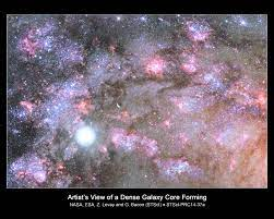 HubbleSite: Image - Artist's View of a Dense Galaxy Core Forming