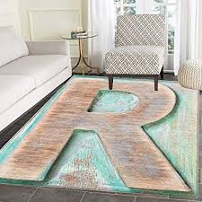 Brown And Turquoise Living Room Cool Amazon Letter R Rugs For Bedroom Wooden Alphabet Block Antique