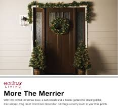 Garland With Lights Lowes Shop Holiday Living Front Door Decoration Kit With White