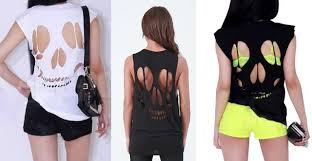 back cut out t shirt for