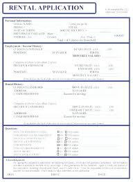 Blank Rental Application Blank Rental Application Template Toptier Business