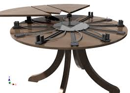expanding round table throughout self 3d cad model library grabcad decorations 1