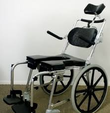 go anywhere commode n shower chair w 20 wheels adjule sp a