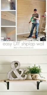 diy shiplap wall awesome easy diy shiplap wall tutorial an inexpensive way to add of diy