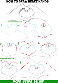 drawing step by step for beginners. Perfect Step How To Draw Heart Hands In Easy Follow Step By Drawing Tutorial For  Beginners And Intermediates With By For D