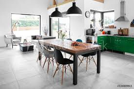 Glass Dining Poster Foto Modern Dining Room With Dining Table Koop Op Europostersnl Europosters Poster Foto Modern Dining Room With Dining Table Koop Op