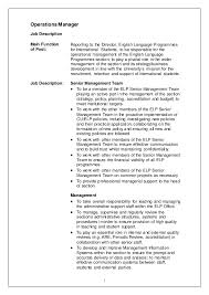 Director Of Operations Job Description Sample - Boat.jeremyeaton.co