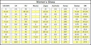 Le Chateau Shoe Size Chart Sizing Conversion Aubadegirls Closet