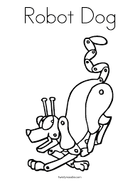 Small Picture Robot Dog Coloring Page Twisty Noodle