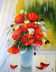 flower paintings handmade livemaster handmade poppies near the window oil