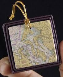Nautical Decorations Nautical Ornaments Map Ornaments