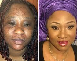 makeup transformations of women via